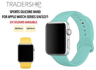 Replacement Silicone Sports Strap Band Apple Watch Series 5/4/3/2/1 38/40 42/44