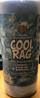 Extreme Heat Relief REUSABLE COOL RAG Reduce Stress and Fatigue Sports ~ NEW