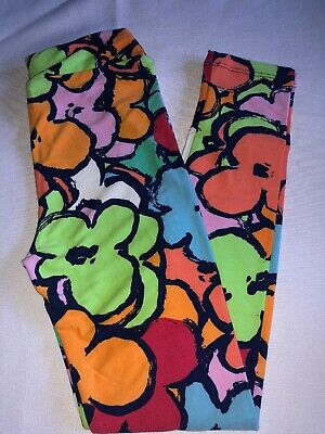 (BoxM) LuLaRoe Kids Leggings L/XL New Large Colorful Flowers