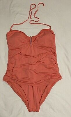 NEW Women/'s BEACH By Melissa Odabash One Piece Ruched Blue Size Medium strapless
