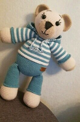 Pillow bear - crochet toys in scandinavian style | Soft toy ... | 400x264