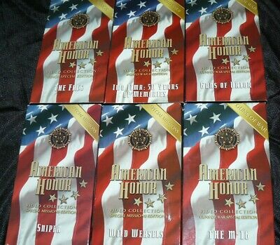 Lot Set of 6 American Honor Video Collection VHS Tapes M-16 Iwo Jima FACs....