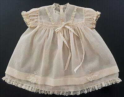 VERY OLD, 1930's - 40's, BABY GIRL DRESS, FINE & DELICATE, A BEAUTIFUL PIECE