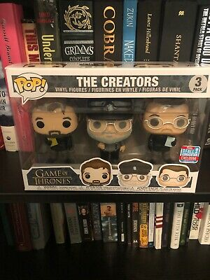 Funko Pop Game Of Thrones The Creators 3 Pack 2018 NYCC Shared Exclusive