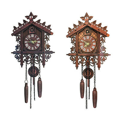 1 pcs Cute Handcrafted Clock Decoration Wall Hanging Home Cuckoo Alarm Vintage