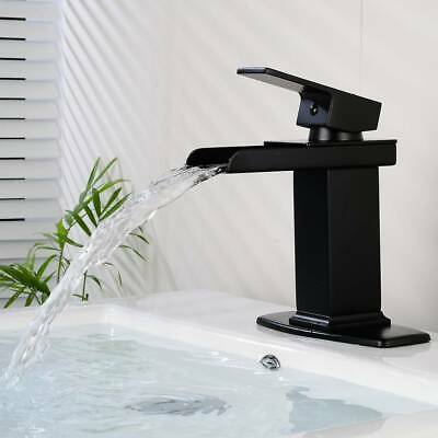 Basin Faucet Luxurious Bathroom Faucet Black Solid Brass Cold and Hot Water Tap