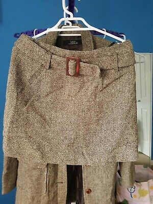 Saba Womens Corporate Mini Skirt and Jacket Suit Size 12