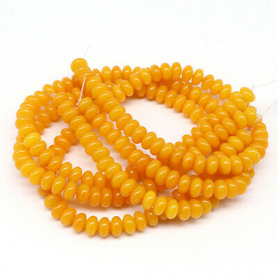 1pcs 5X8mm Yellow Chalcedony Loose Bead Jewelry 15.5inches Colorful Beaded