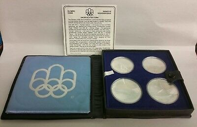 1976 Proof Silver Canadian Montreal Olympic Games 4 Coin Set - SERIES VII (7)