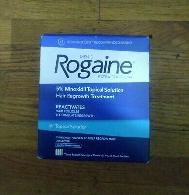 Rogaine Men's 5% Minoxidil Hair Regrowth Topical Solution - 3 Pack Exp Mar 2019