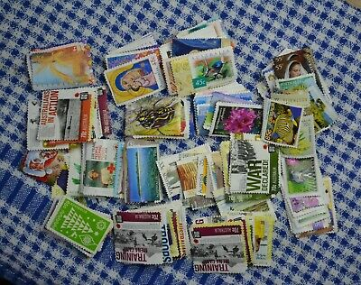 Aust Stamps  Mixed Denominations  Off PAPER No Gum unfranked  FV$110