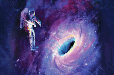 T-456 Astronaut Space Psychedelic Trippy Colorful Abstract Poster Silk 30 24x36