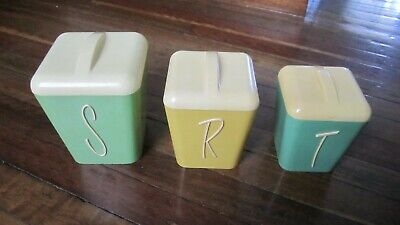 Gay ware Vintage Plastic Cannisters x 3