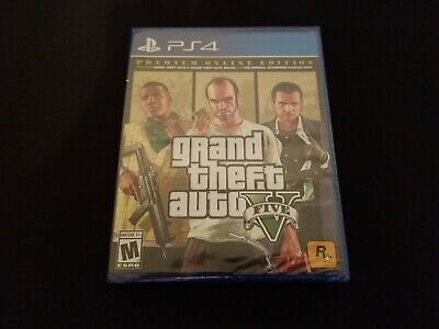 NEW Grand Theft Auto 5 Premium Online Edition for Sony PlayStation 4 (GTA V PS4)