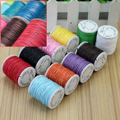 10 Rolls Mixed Waxed Cotton Cord Strings For Macrame Jewelry Beads DIY Making