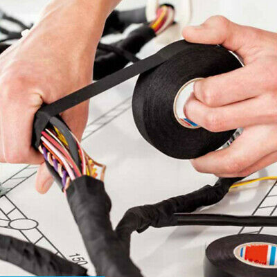 19mmx 15M Adhesive Cloth Fabric Tape Cable Wiring Harness For Car Auto HOT