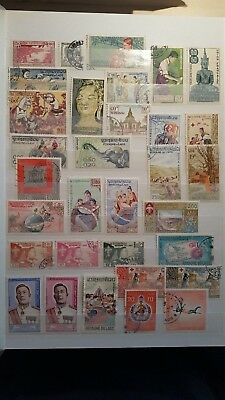 Laos  Stamps Small Collection 7 Scans Mint/Used