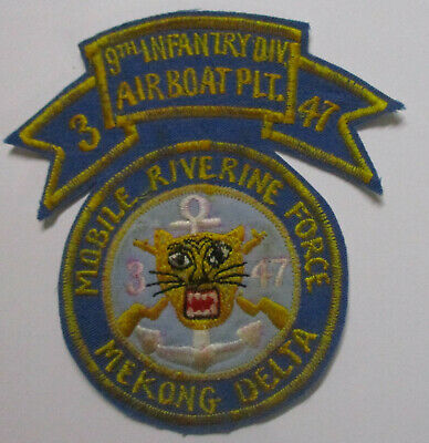 Vietnam US Army 9th Infantry Division Mobile Riverine Force Airboat Platoon 2-47