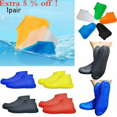 Silicone Overshoes Rain Waterproof Shoe Covers Boot Cover Protector Recyclable~
