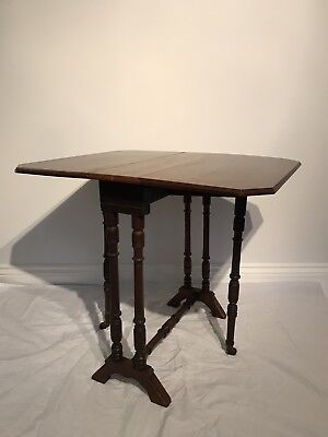 antique Victorian Drop-leaf- Gate-leg Pembroke Table