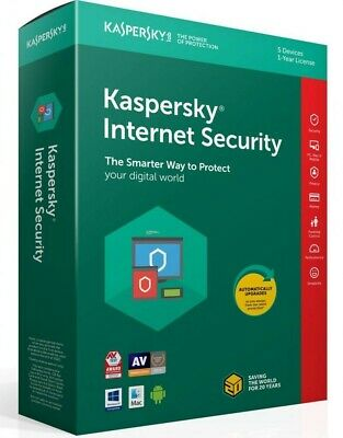 3 PC Kaspersky Internet Security 2019 with Anti-Virus Exp. Date: 07//07//2020
