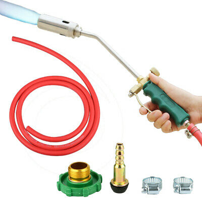 35mm Liquid Gas Spray Gun Nozzle Propane Torch Head Dual Switch Stainless Steel