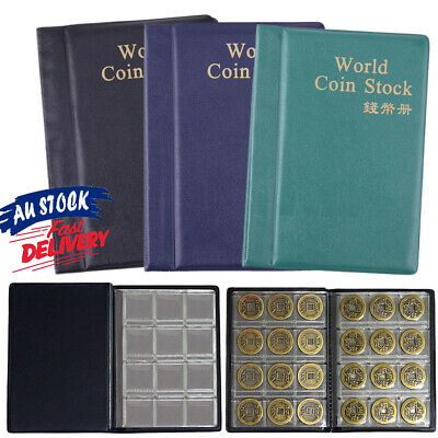 120 Coins Money Storage Book Album Pockets Penny Collection Holder Collecting