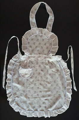 VINTAGE 1950's APRON, BEAUTIFULLY FINE AND DELICATE - PALE BLUE