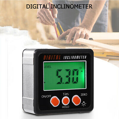 4*90° Digital LCD display Angle Finder Level Box Gauge Protractor Inclinometer