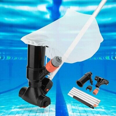 Pool Jet Vacuum Cleaner + 5 piece Pole Swimming Pool Hot Tub Underwater Cleaner