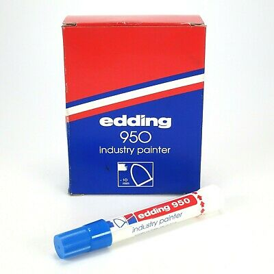Edding 950 Solid Industry Paint Marker - Blue - Box of 10 - 10mm Bullet Tip