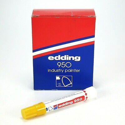 Edding 950 Solid Industry Paint Marker - Yellow - Box of 10 - 10mm Bullet Tip
