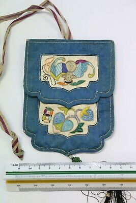 Antique Chinese EMBROIDERED Purse No 10
