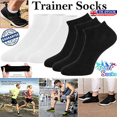 Mens Womens Trainer Liner Ankle Cotton Rich Sports Gym Socks 6 Pairs Sock UK LOT