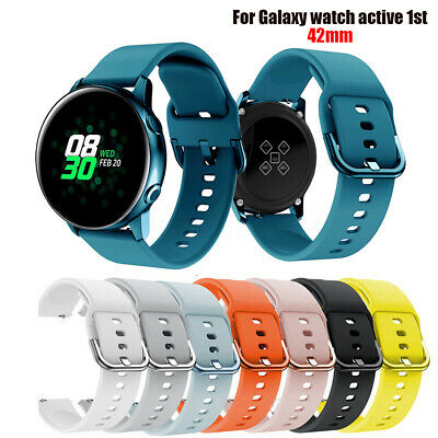 Silicone Watch Band Strap Wrist Band Loop For Samsung Galaxy Watch Active 42mm