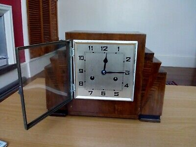 Vintage Wooden Mantle Clock Approx 1900's