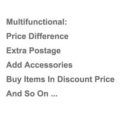 Add Accessories & Extra Postage & Price Difference & Buy Items In Discount Price
