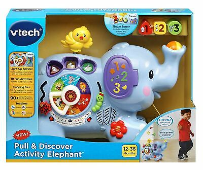 VTECH Pull & Play Elephant 12m+ Fun Toddler Toy NEW