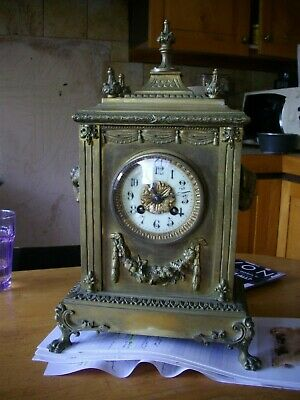 Solid brass French 8 day mantle clock