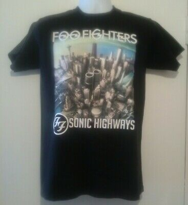 Foo Fighters Sonic Highways - Tour T.shirt...Uk/European Dates..size Large...New