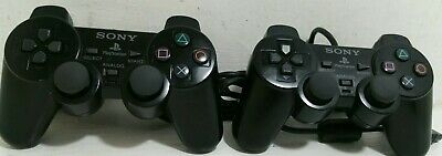 Sony Official PlayStation 2 DualShock 2 Controller (PS2) Black