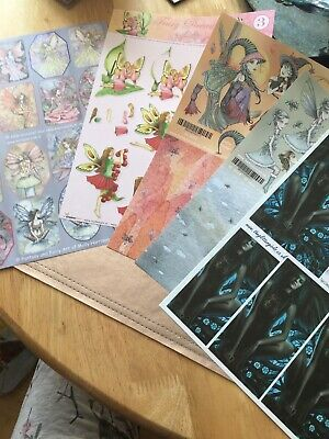 5 Mixed Fairy Sheets Decoupage Card Paper Crafts Job Lot Clear Out