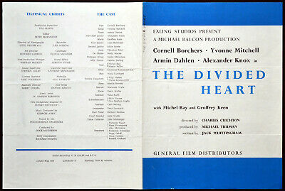 DIVIDED HEART 1954 Cornell Borchers, Yvonne Mitchell EALING STUDIOS SYNOPSIS