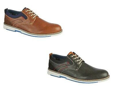 Men's Laceup Casual Shoe Striped Lining Padded inSock Smart Office Party DOUGLAS