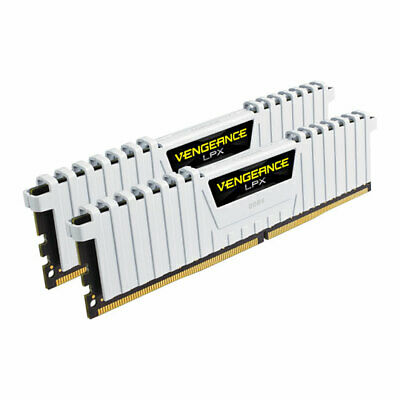 16GB (2x8GB) Corsair DDR4 Vengeance LPX White, PC4-25600 (3200), Non-ECC Unbuffe