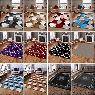 Blue Grey Red Modern Thick Soft  Small Large Area Rug Runner Carpet Floor Mat