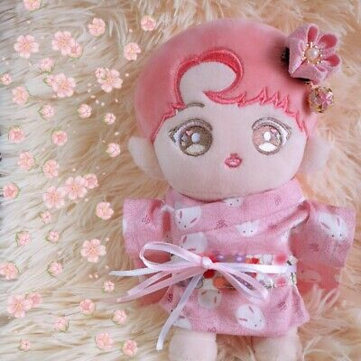 KPOP Shinee Nct EXO BTS Plush Doll's Clothes Cute Pink Kimono Pink New【no doll】