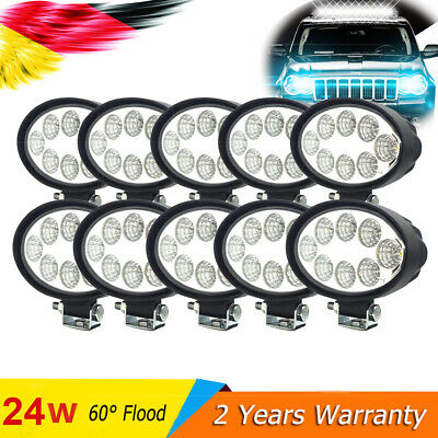 24W(2-10x) LED Oval Faros de trabajo de la luz de Work Light Flood camiòn lámpar