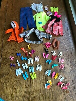 Large Lot Of Doll Barbie Shoes And Clothing* Sneakers Pumps Boots Slippers