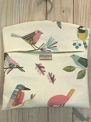 Peg Bag Made In Whimsical Chirpy Birds - Quality Matt Oilcloth Fabric